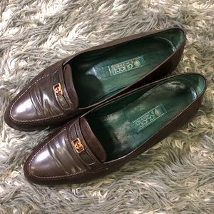 Gucci Men's Burgundy Loafers Size 44